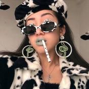 Lovely Women s Zebra Pattern Decoration Sunglasses