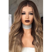 Lovely High Temperature Wire Brown Wave Roll Wigs