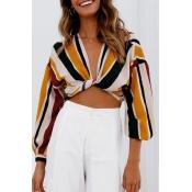 Lovely Chic Cross-over Design Multicolor Knitting