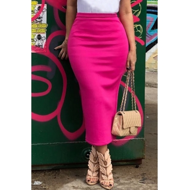 Lovely Casual Rose Red Skirt