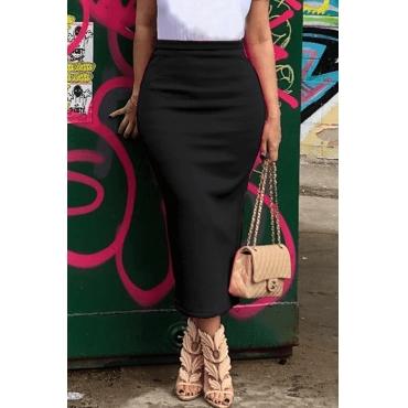 Lovely Casual Black Skirt
