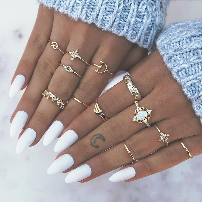 Lovely Trendy Punk Gold Alloy Ring