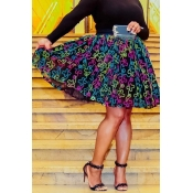 Lovely Sweet Printed Knee Length A Line Skirts