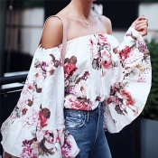 Lovely Bohemian Flare Sleeves Printed Shirts