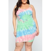 Lovely Women's Tie-dye Multicolor Dress