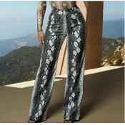 Lovely Trendy High Elastic Snakeskin Pattern Print