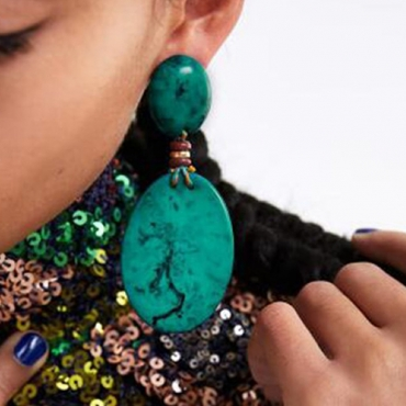 Lovely Fashion Deep Green Alloy Earring