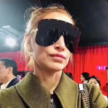 Lovely Fashion Black Metal Sunglasses