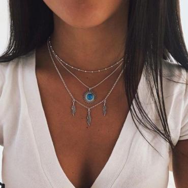 Lovely Bohemian Silver Necklace