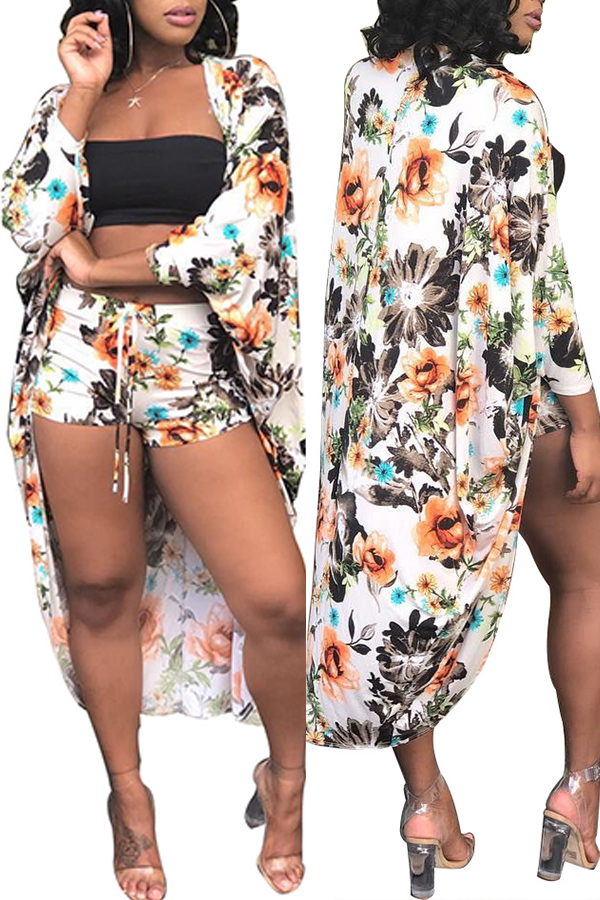 Lovely Printed Multicolor Two-piece Swimwear(Without Lining)