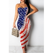 Lovely Independence Day Casual Off The Shoulder Pr