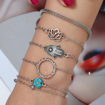 Lovely Fashion Hollow-out Silver Alloy Bracelet