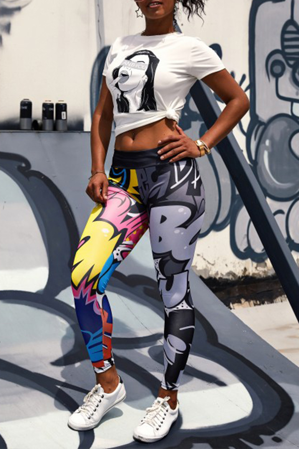 Lovely Casual Printed Multicolor Pants