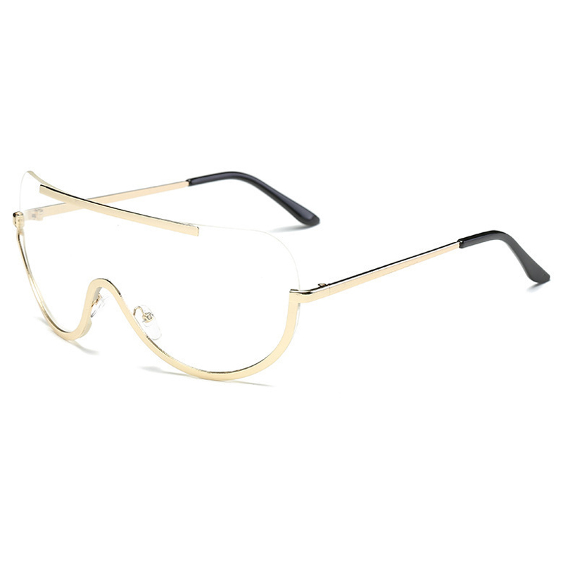 Lovely Trendy See-through Metal Sunglasses
