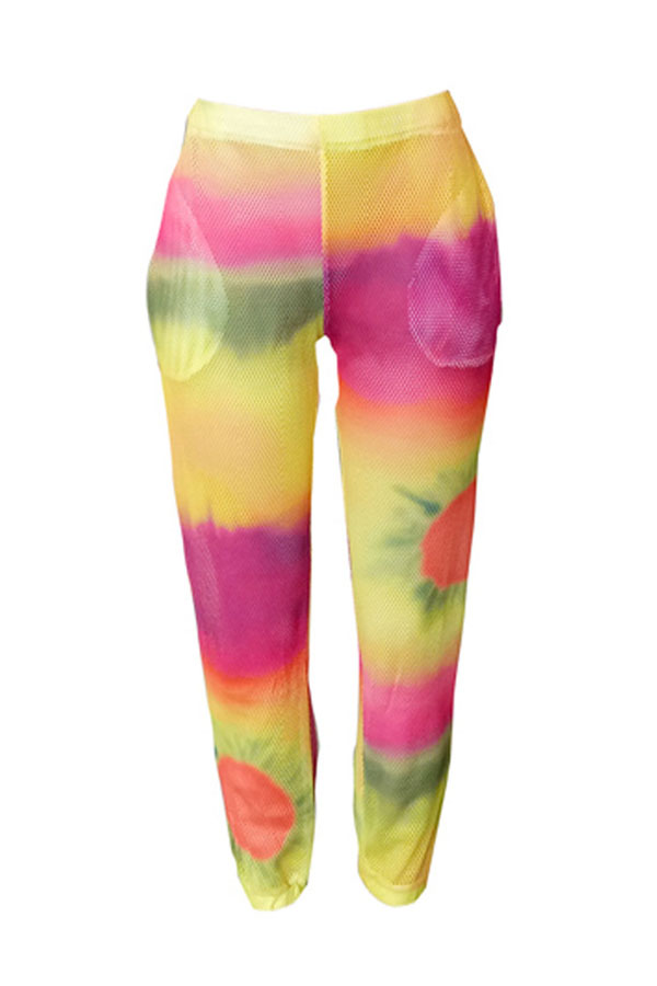 Lovely Casual Tie-dye Multicolor Pants