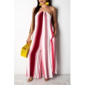Lovely Chic Striped Red One-piece Jumpsuit