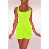 Lovely Casual Sleeveless Skinny Green One-piece Romper