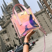 Lovely Casual Pink Crossbody Bag