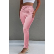 Lovely Chic High Waist Pink Skinny Pants