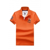 Lovely Casual Embroidered Design Jacinth Polo Shir