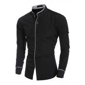 Lovely Stylish Patchwork Black Shirt