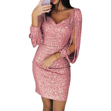 Lovely Stylish V Neck Hollow-out Pink Mini Prom Dress