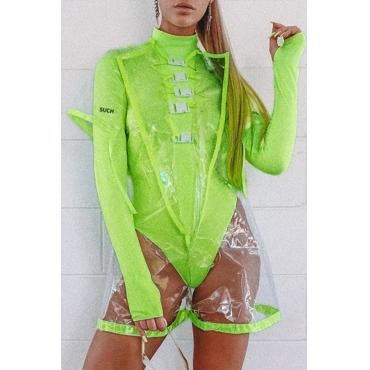 Lovely Stylish See-through Green Bodysuit