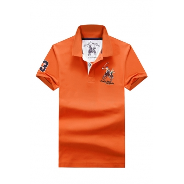 Lovely Casual Embroidered Design Jacinth Polo Shirts