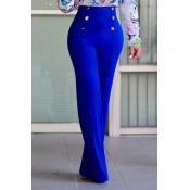 Lovely Stylish High Waist Double-breasted Design B