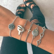 Lovely Stylish Hollow-out Silver Alloy Bracelet