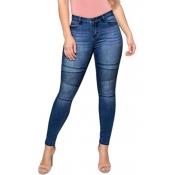 Lovely Street Skinny Deep Blue Jeans