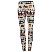 Lovely All Saints  Day Printed White Pants