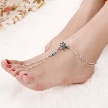 Lovely Casual Hollow-out Silver Alloy Body Chain