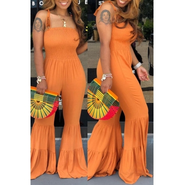 Lovely Sexy Spaghetti Straps Croci One-piece Jumpsuit