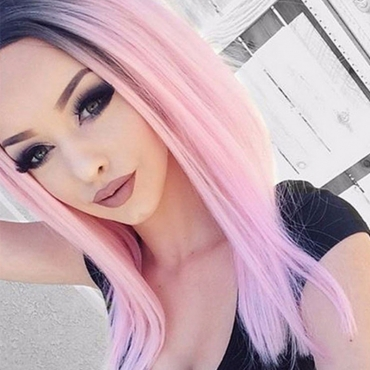 Lovely Light Pink Hign-temperature Resistance Wigs