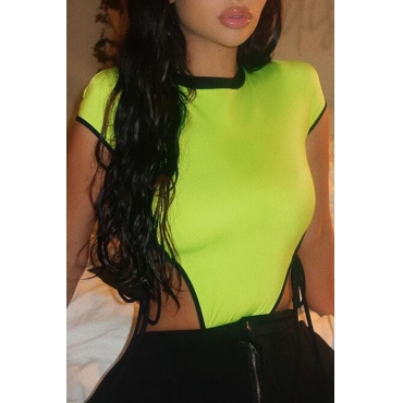 Lovely Sexy Hollow-out Green Bodysuit