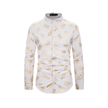 Lovely Casual Printed White Shirts