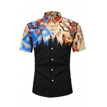 Lovely Trendy Printed Black Shirt