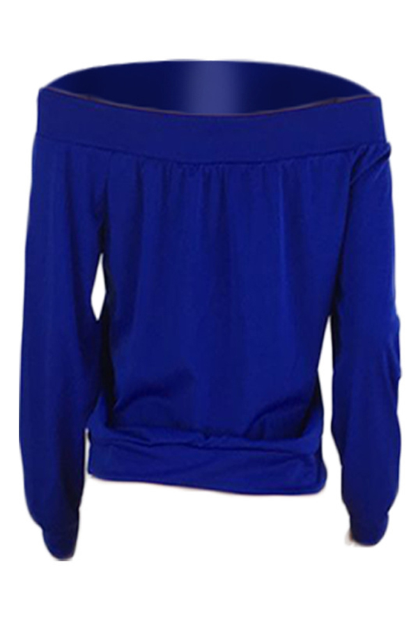 Lovely Casual Letter Printed Blue Sweatshirt Hoodies