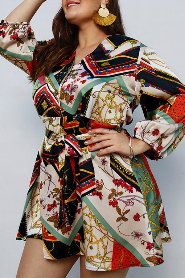 Lovely Bohemian Printed Jacinth Mini Dress