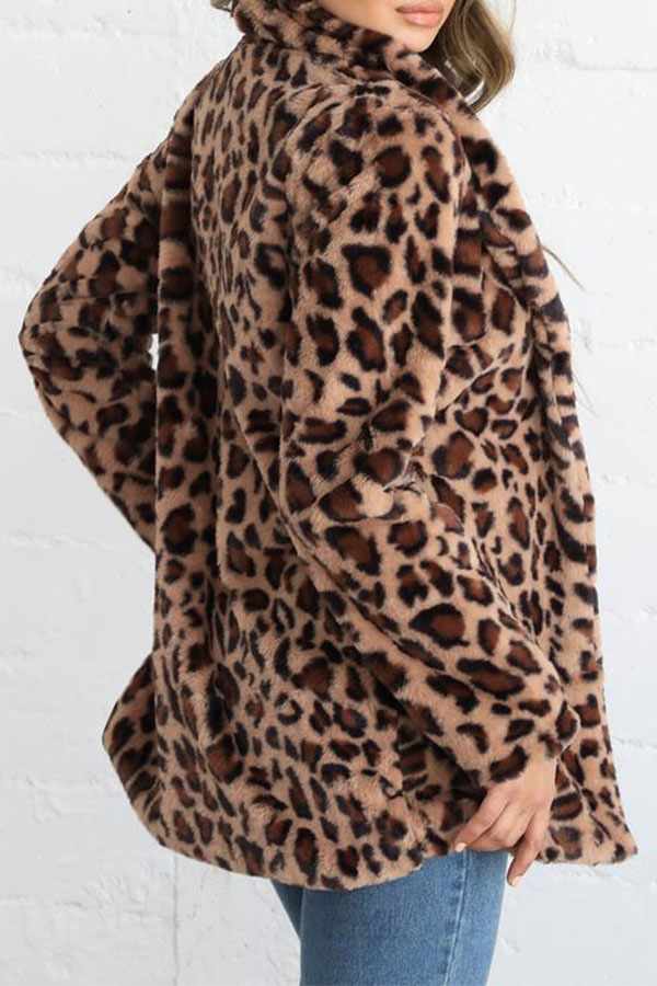 Lovely Trendy Leopard Printed Coat