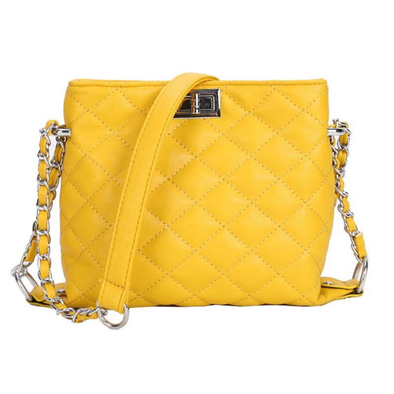 Lovely Trendy Chain Strap Yellow Crossbody Bag