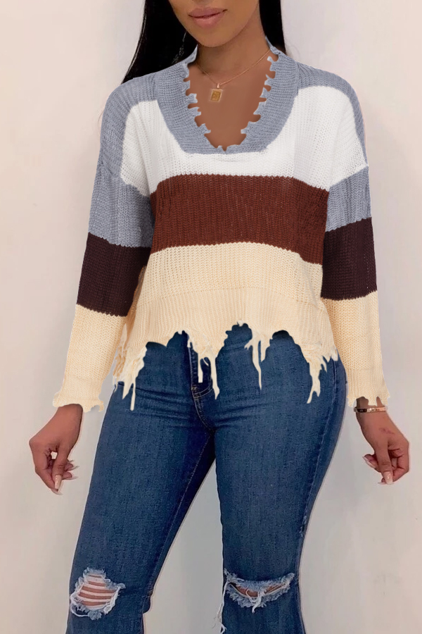Lovely Trendy Asymmetrical Grey Sweaters