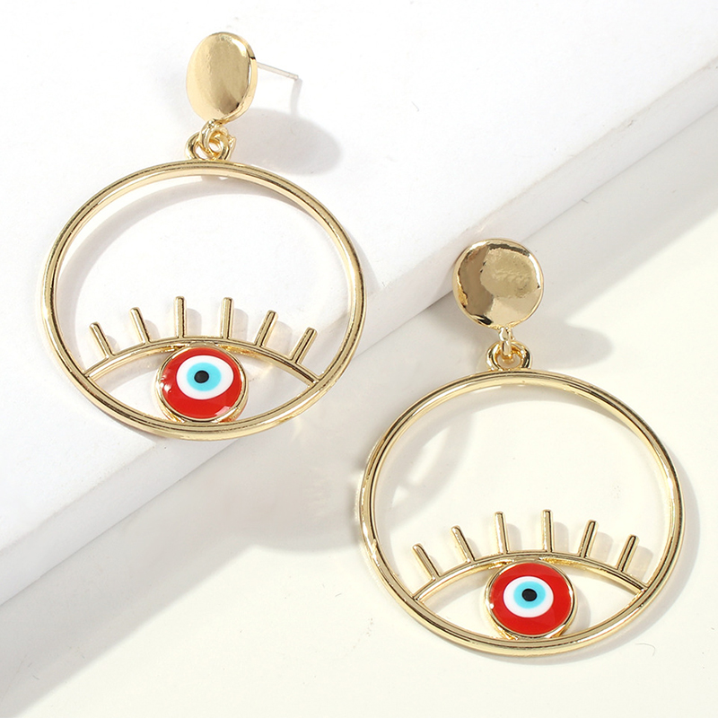 Lovely Trendy Hollow-out Red Alloy Earring