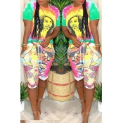 Lovely Leisure Printed Multicolor T-shirt