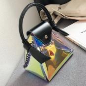 Lovely Fashion Patchwork Black Messenger Bag