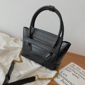 Lovely Vintage Chain Strap Black Crossbody Bag