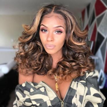 Lovely Trendy Long Wavy Brown Wigs