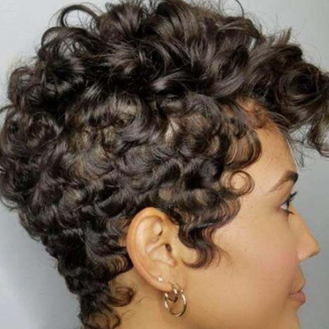 Lovely Casual Short Curly Synthetic Black Wigs