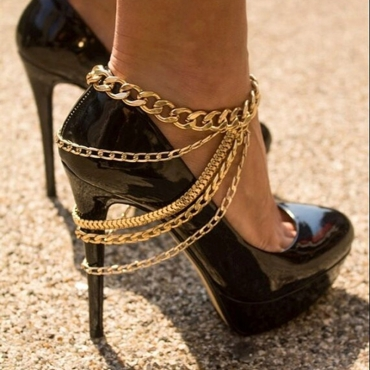 Lovely Casual Layered  Gold Alloy Anklet